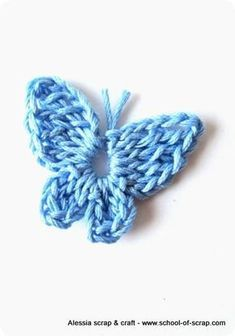 Scuola di Uncinetto: farfalline a crochet in keeping with l'property Mariposa Ganchillo (Visited 1 times, 1 visits today) Crochet Butterfly Free Pattern, Crochet Flower Patterns, Crochet Designs, Crochet Flowers, Knitting Patterns, Crochet Crafts, Crochet Toys, Crochet Projects, Borboleta Crochet