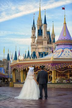 Tie the knot with a hint of magic at Walt Disney World. Photo: Beth at Disney Fine Art Photography