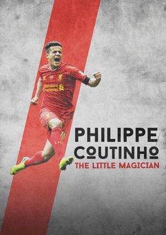 Philippe Coutinho of Liverpool wallpaper. Free Football, Football Art, Football Info, Liverpool Football Club, Liverpool Fc, Football Design, Design Graphique, Poster On, Philippe Coutinho