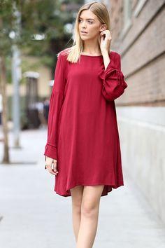 Kelly Brett Boutique - Secret Admirer Dress Wine, $38.00 (https://www.kellybrettboutique.com/secret-admirer-dress-wine/)