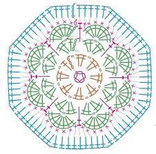 Bildergebnis für heptagon häkeln