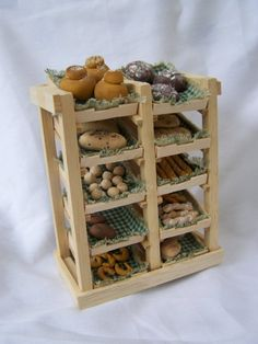 Dolls House Handmade Bakery / Bread Shelves by LittleHouseAtPriory
