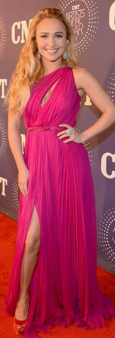Hayden Panettiere : Dress – Cavalli    Shoes – Giuseppe Zanotti    Jewelry – Sutra would like this even more if the cut didn't go so low