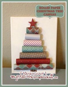 {Video Tutorial} Rolled Paper Christmas Tree Canvas