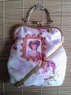 Shabby chic frame purse victorian frame por ShabbyChicVintageBag