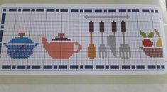 Kanaviçe kalıpları Cross Stitch Kitchen, Cross Stitch Heart, Cross Stitching, Cross Stitch Patterns, Kids Rugs, Handmade, Etsy, Color, Diy Kitchen Appliances