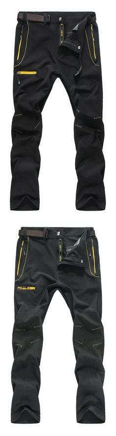 Mens Outdoor Fitness Running Water-repellent Quick-Dry Breathable Pants is best and cheap on Newchic. Outdoor Wear, Outdoor Outfit, Mens Outdoor Fashion, Mens Fashion, Bermudas Shorts, Soft Shell, Cool Gear, Outfit Trends, Outdoor Workouts