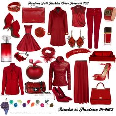 """Pantone Fall Fashion Color Forecast 2013 - Samba"" by bekzilla on Polyvore"