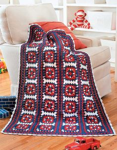 Granny Square Baby Afghans - Accented with texture-rich stitches, the designs in…