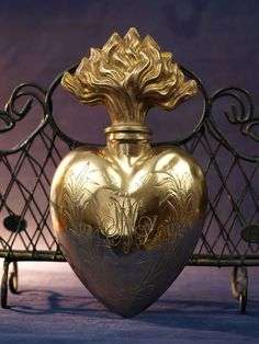 Sacred Heart of Mary 19th C Reliquary French Bottle Ex Voto Relic
