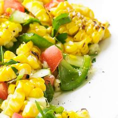Our grilled Fresh Corn Salad is seasoned with zesty cilantro. Recipe: http://www.bhg.com/recipe/salads/fresh-corn-salad/?socsrc=bhgpin063012