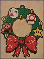 Mario Christmas Wreath by Jelizaveta
