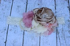Hey, I found this really awesome Etsy listing at https://www.etsy.com/listing/159545196/pink-and-nude-headband-baby-headbands