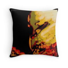 Organic, black, red, orange  abstract, modern gifts and decor