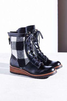 """Matt Bernson Windsor Wool Plaid Hiker Boot"" - I want these soooooo bad!!"