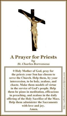 Pray for  your priest!