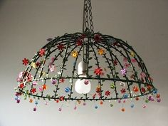 Under the Dome Large Cieling Lampshade Unique black by AnatBon