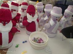 Мастер-класс Свит-дизайн Новый год Моделирование конструирование Дед Мороз и Снегурочка Бумага гофрированная фото 15