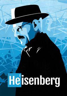 Heisenberg - Breaking Bad - Séries | Posters Minimalistas