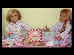 DIY Doll Pizza   How to make American Girl Doll Crafts - YouTube