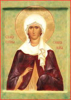 "St. martyr Photina. 2002. Wood, gesso, tempera, partly gilding. 11,02""x 8,47"". Private collection (Canada)."