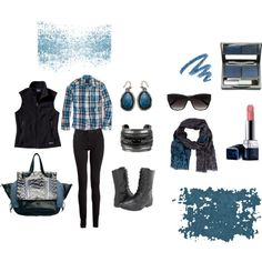"""Blacks and Blues"" by martha-hill-carter on Polyvore"