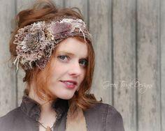 Woodland Headpiece / Bohemian Head Wrap / by GreenTrunkDesigns, $75.00