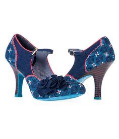 Ruby Shoo Womens Ashley Textile Shoes Blue