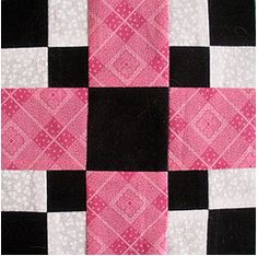 Thrifty Block Pattern was first published in 1939 by the Kansas City Star, according to Barbara Brackman's Encyclopedia of Pieced Quilt Blocks. Quilting Tips, Quilting Tutorials, Quilting Projects, Quilting Designs, Sewing Projects, Quilt Block Patterns, Pattern Blocks, Quilt Blocks Easy, Patch Quilt