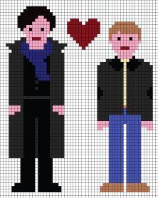 Sherlock Loves John Cross Stitch Pattern PDF by XStitchMyHeart, £2.00