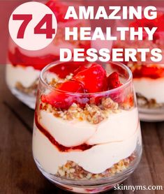 74 healthy dessert recipe favorites made with whole foods and no refined sugars. - Healthy desserts - whole foods Mini Desserts, Desserts Keto, Just Desserts, Dessert Recipes, Dessert Dishes, Cheesecake Desserts, Skinny Cheesecake, Whole Food Desserts, Mexican Desserts