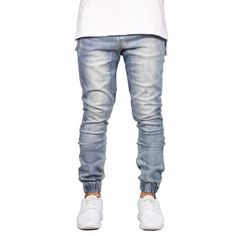c1656211cfc Men Jeans Fashion Stretch Joggers Hip Hop Denim Jogger Pants H5092