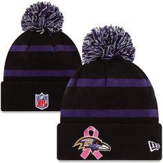 New Era Baltimore Ravens Breast Cancer Awareness On-Field Sport Knit Beanie  Baltimore Ravens 9fb979546