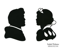 Snow White Handcut Paper Disney Silhouettes. $45.00, via Etsy.  Hang these on the wall, or frame them as decoration?