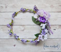 Flower Crown - Lavender Flower Crown, Wedding Hair Accessories, Wedding Crown, Lavender, Purple by blueorchidcreations on Etsy