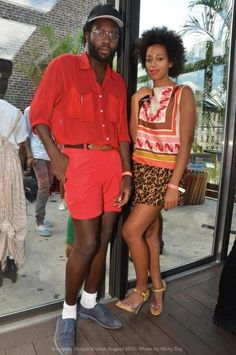 Dev Hynes and Solange at the  EVERYDAY PEOPLE BRUNCH.
