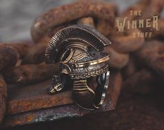 Legionnaire Helmet - Paracord Knife Lanyard Bead in Bronze by TheWinnerStuff on Etsy