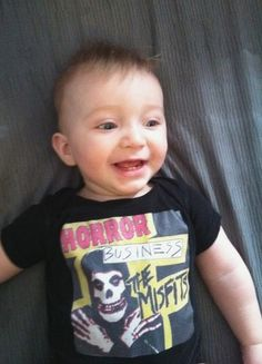 Misfits Horror show tshirt onesie punk baby by LightandSweet, $18.00. I have a feeling that my child will have nothing but Misfits onesies. lmao