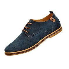 wholesale dealer df87a cdefc Comprar Ofertas de Gleader NUEVOS zapatos de gamuza de cuero de estilo  europeo oxfords de los hombres casuales Azul(tamano 39) barato. ¡Mira las  ofertas!