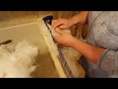 Preparing Alpaca Fiber for Spinning - Without Spending a Ton of Money - YouTube