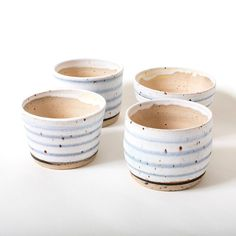 Vintage French Soul ~ White gray succulent planters, made by Eeli from Polli Pots, available at eeli. Matcha Bowl, Green Mugs, Pottery Tools, Ceramic Pottery, Slab Pottery, Pottery Vase, Ceramic Bowls, Ceramic Art, Pottery Studio