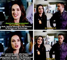 """Heard you got a promotion?"" - Mack, Coulson, Fitz and Jemma #AgentsOfSHIELD ((Hahahah S.A.D.I.S.T. & W.I.M.P.))"