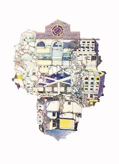 Lucille Clerc - Hackney Derelict 2 London Clubs, Urban, Wall Art, Omega, Conversation, Prints, Contrast, Dibujo, Printmaking