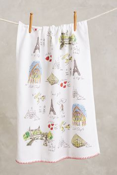 Mapped-Out Dishtowel - anthropologie.com