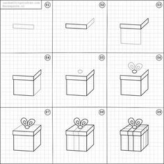 How to draw a gift.