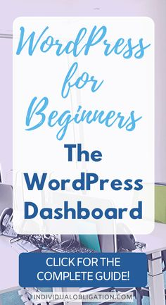 This blogging for beginners WordPress tutorial will cover all the WordPress tips you need to know to use the WordPress dashboard. The WordPress admin dashboard controls everything about your WordPress blog. Which is why it is so important to master + learn. This blogging 101 guide will show you how to use and customize your WordPress dashboard. #wordpress #blogging #bloggingforbeginners #startablog #wordpressblog Wordpress For Beginners, Learn Wordpress, Wordpress Admin, Blogging For Beginners, Wordpress Free, Wordpress Website Design, Blog Tips, How To Start A Blog, Social Media