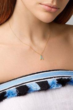 Jennifer Meyer - 18-karat Gold, Diamond And Turquoise Necklace - S