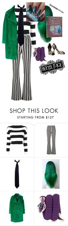 """BEETLEJUICE BEETLEJUICE BEETLEJUICE"" by icecreamypu ❤ liked on Polyvore featuring Boutique Moschino, Altuzarra, Calvin Klein, MSGM and Tamara Donalli"