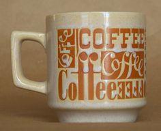 Typography Coffee Vintage Coffee Mug on Etsy, $10.00