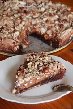 Philo aux fourneaux: Gâteau chocolat noisettes meringué